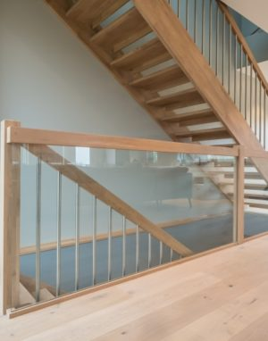 Oak stairs in Norway. Project no. 69
