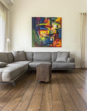 Oak floorboard, color 3481 Walnut