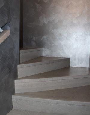 Solid oak wood stairs