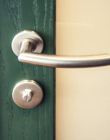 Oak solid doors: models D1F & D1S, colour  S7010-G10Y. Oak flooring: 3481 Walnut.